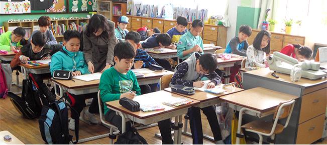 청구초등학교 학생 사진