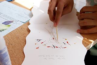 꽃잎으로, 연필로, 그림을 쓰는 시간 클래스 후기