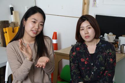 구수현, 김채린 작가1