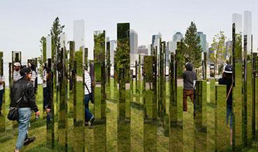 거울로 투명해진 숲과 도시 공간